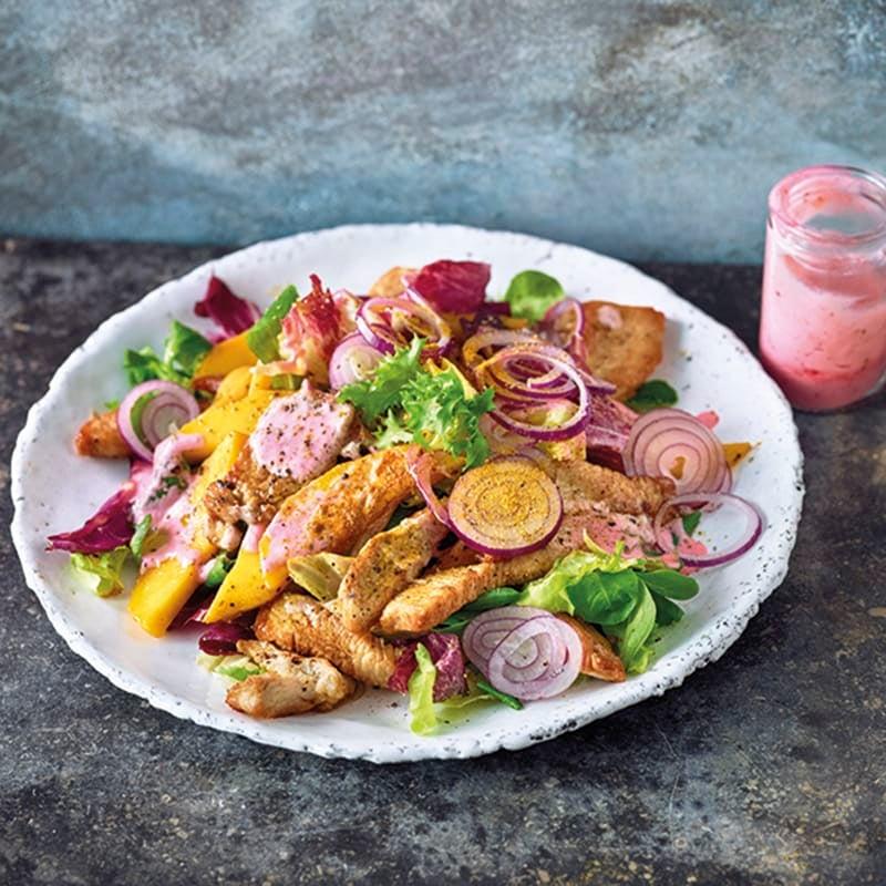 Foto van Fruitige salade met kalkoen door WW