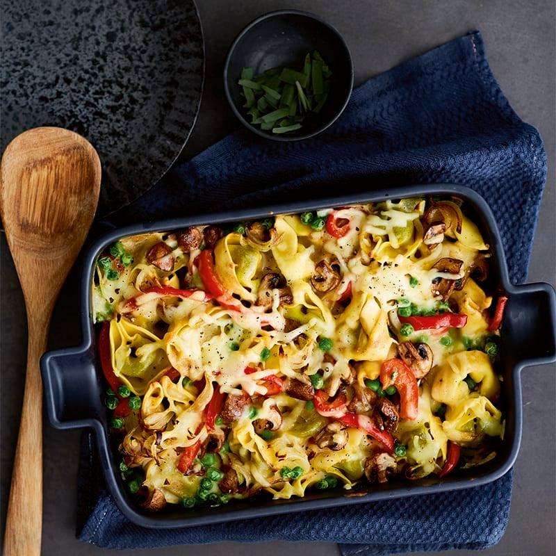 Foto van Gegratineerde pasta met groenten door WW