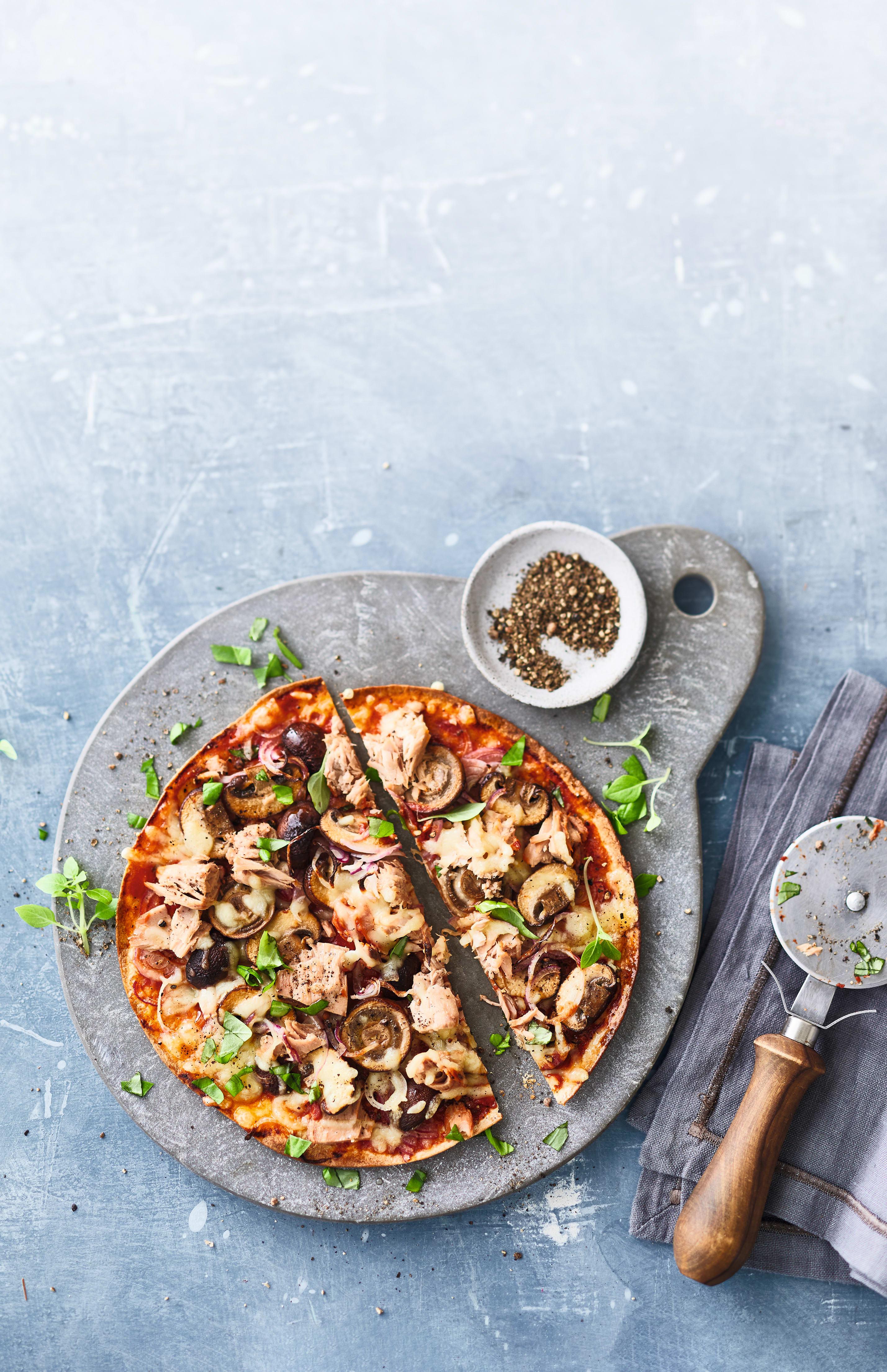 Foto van Snelle pizza met tonijn door WW