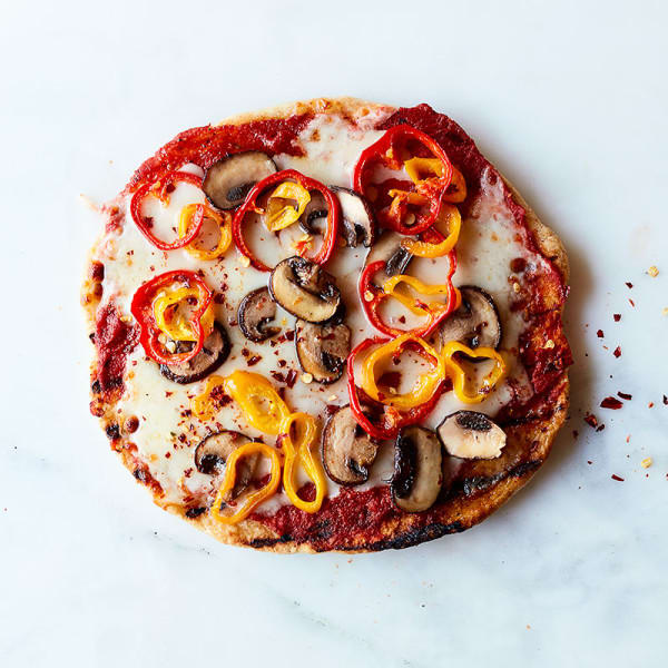 Photo de Pizza aux champignons blonds et poivrons prise par WW