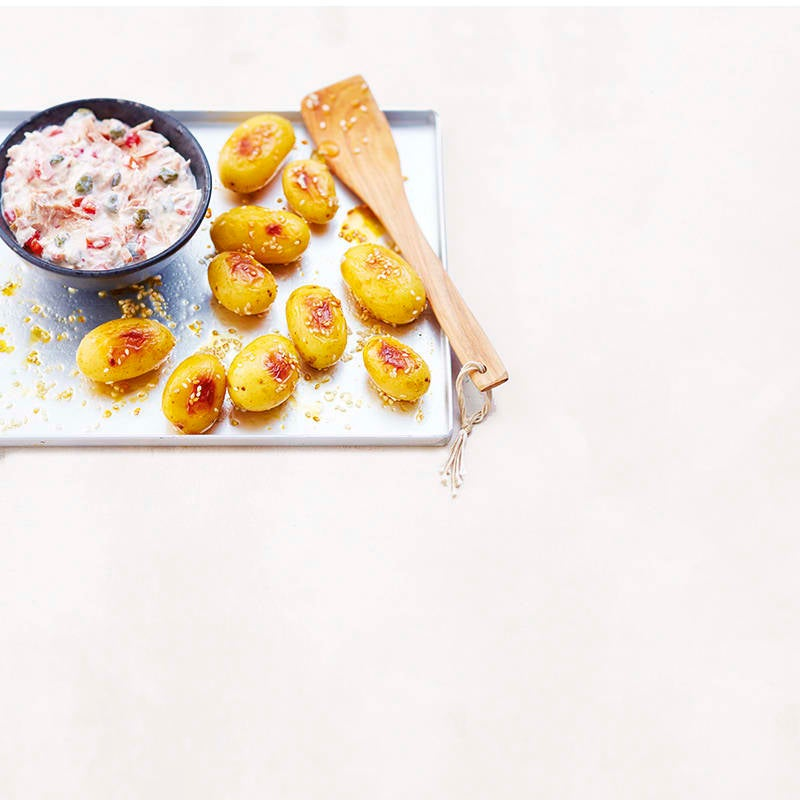Photo de Grenailles au sésame  et au miel et sauce au thon prise par WW