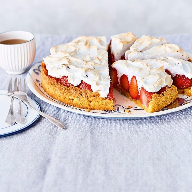 Photo de Tarte aux fraises et meringue prise par WW