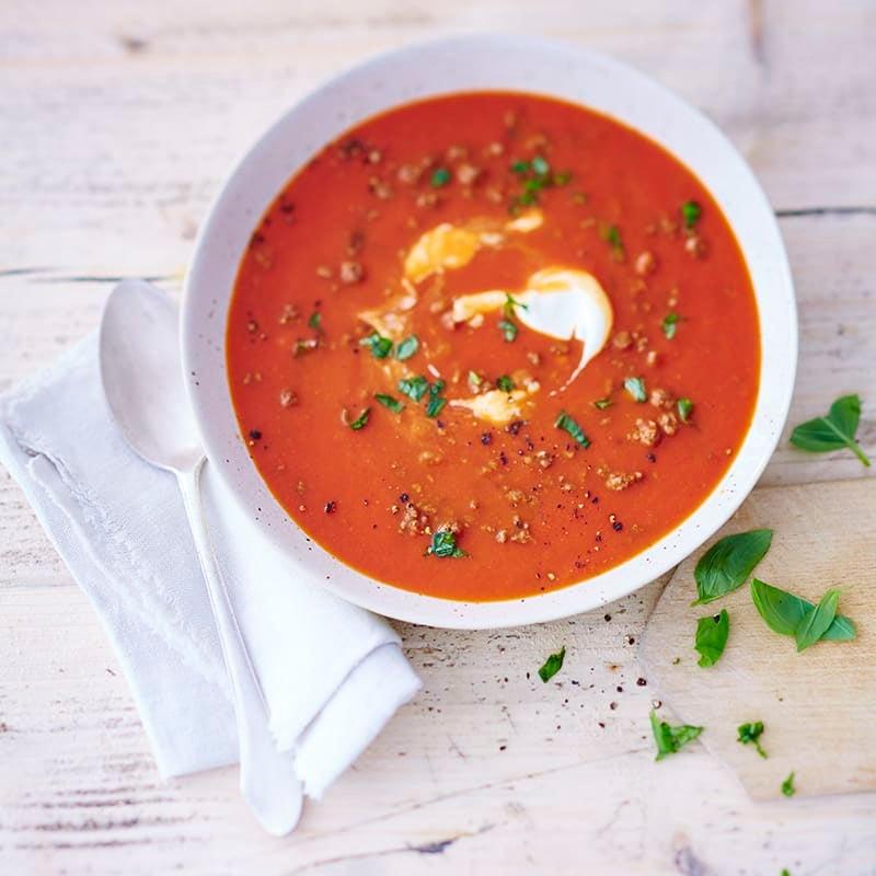 Photo de Soupe aux tomates et viande hachée prise par WW