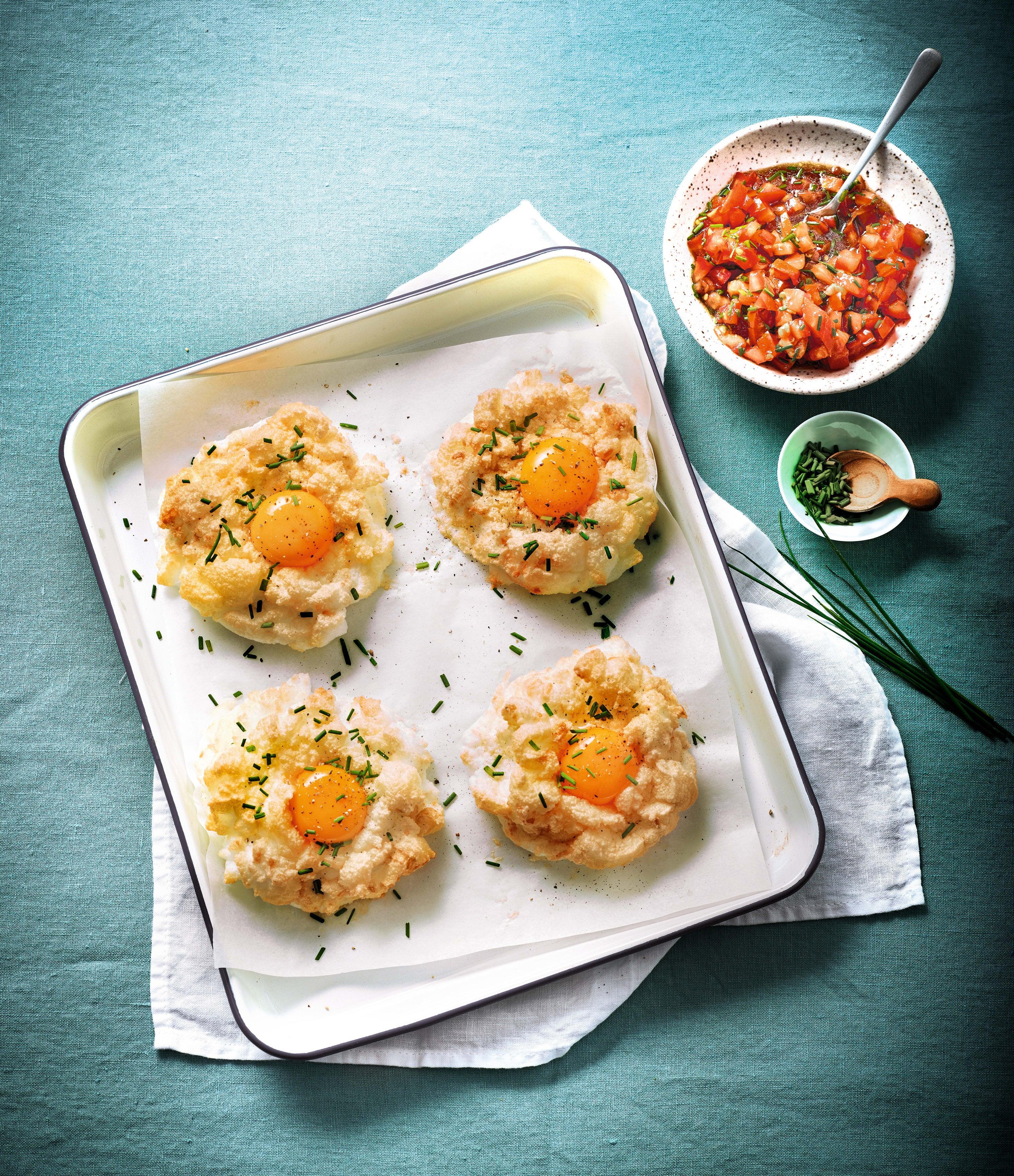 Photo de Œuf nuage ciboulette parmesan et salsa de tomate prise par WW