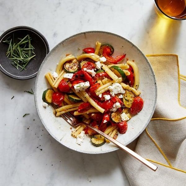 Foto van Pasta met geroosterde groenten en light fetakaas door WW