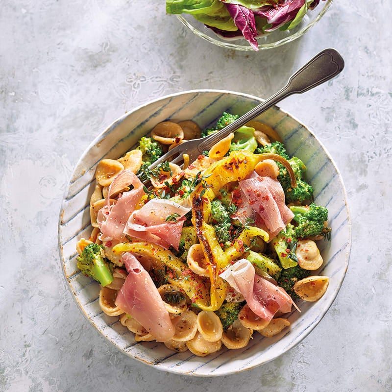 Foto van Orecchiette carbonara met broccoli door WW