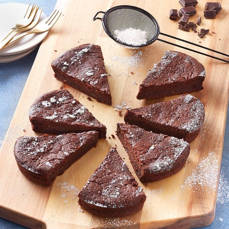 Foto van Zachte chocoladetaart met courgette door WW