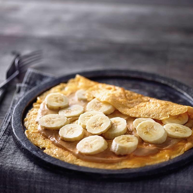 Photo de Omelette à la banane et au beurre de cacahouète prise par WW