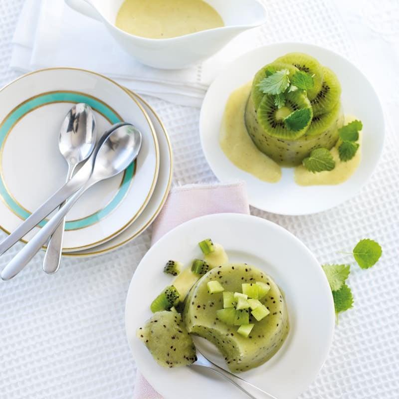 Photo de Petits puddings au kiwi et sauce vanille prise par WW