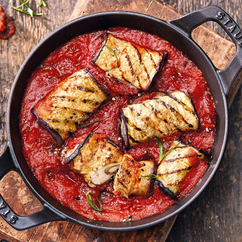 Photo de Roulades d'aubergine à la sauce tomate piquante prise par WW