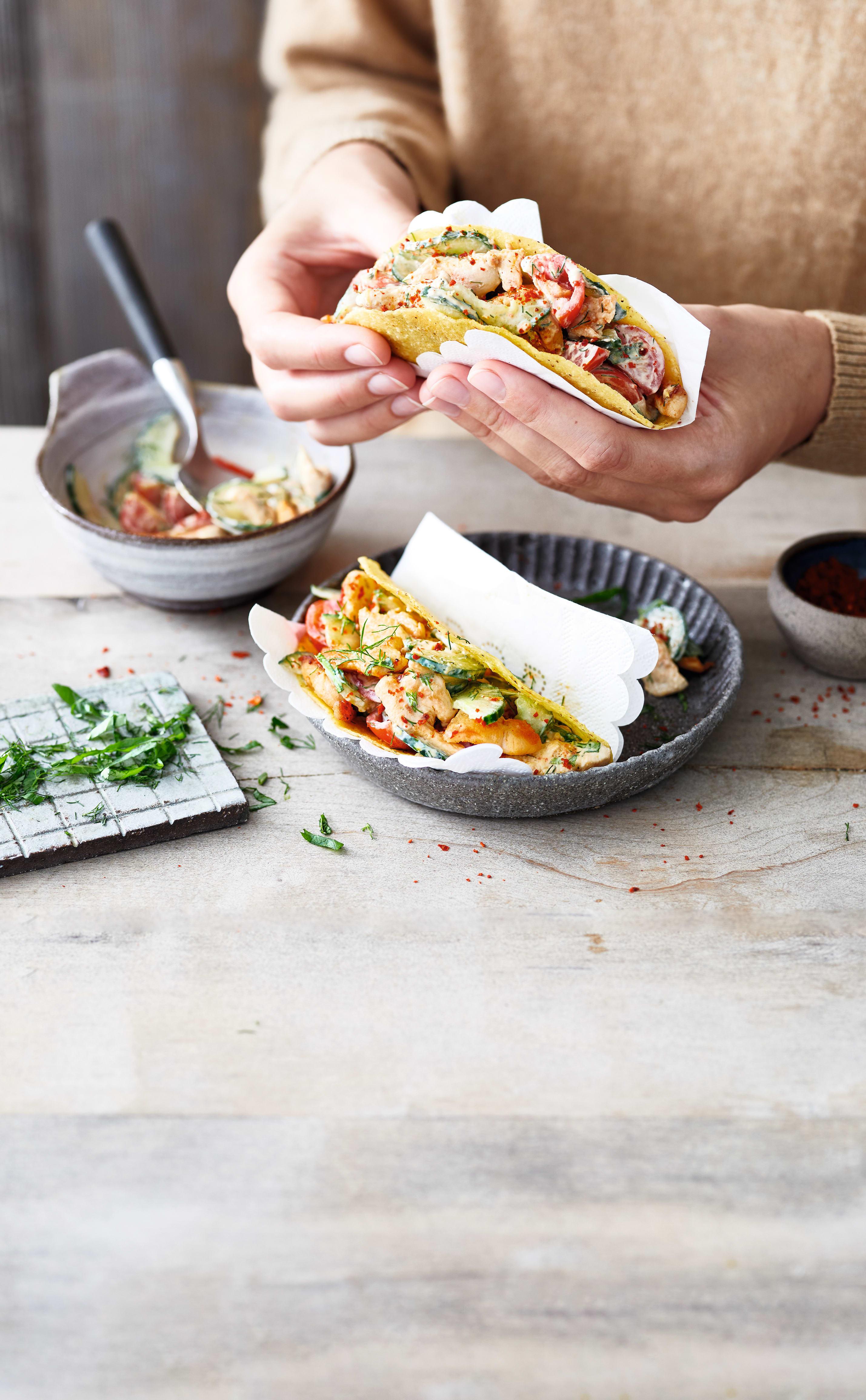 Photo de Tacos farcis au poulet citronné prise par WW
