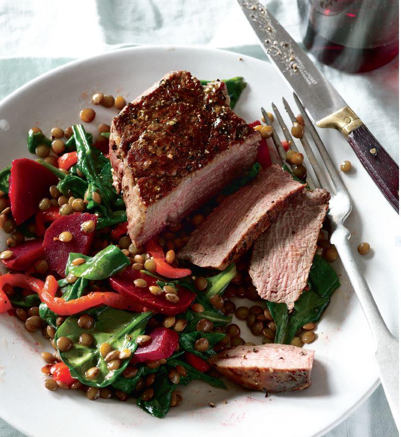 Photo de Filet mignon et salade de lentilles chaudes prise par WW