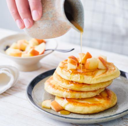 Photo de Pancakes aux pommes façon US prise par WW