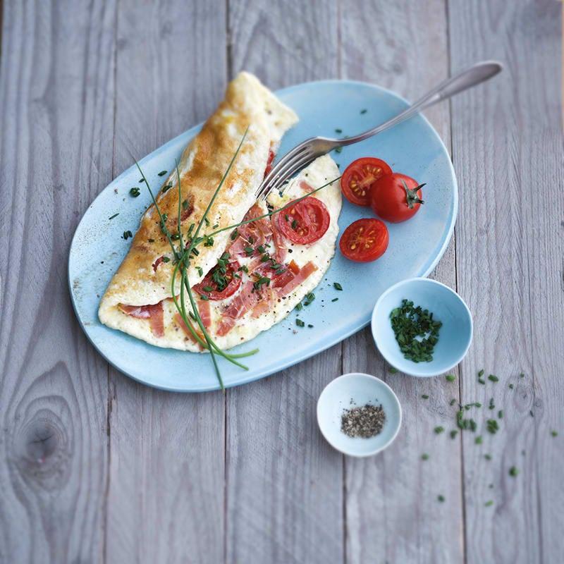 Foto van Stevige ontbijtomelet met ham door WW