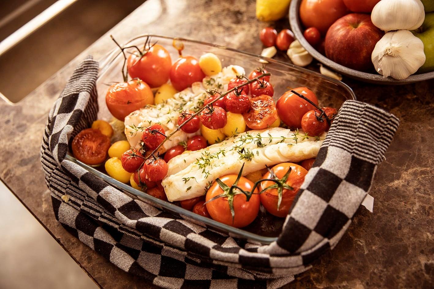 Foto van Aardappel-tomatenschotel met heilbot door WW
