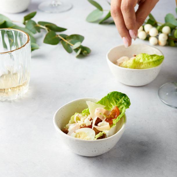 Foto van Caesar salade cups met kip door WW