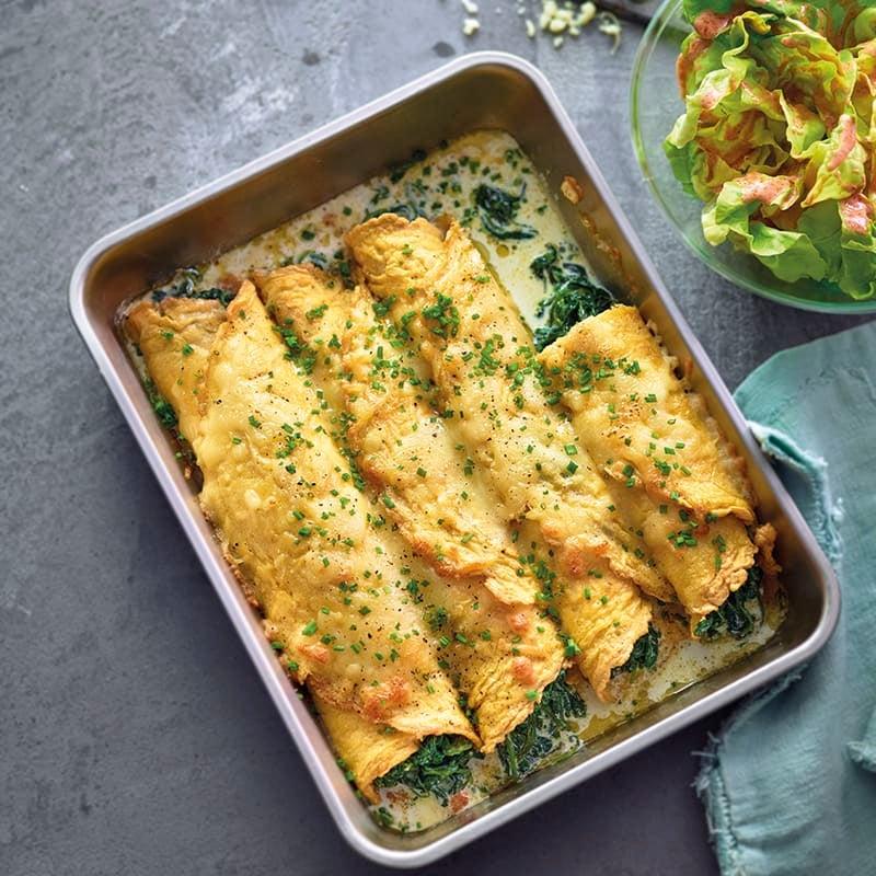 Foto van Omelet-cannelloni met spinazievulling door WW