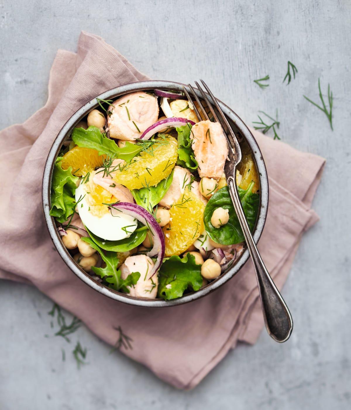 Photo de Grande salade de saumon frais prise par WW