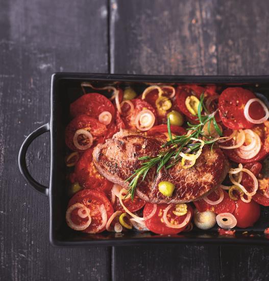 Foto van Biefstuk met tomaten uit de oven door WW