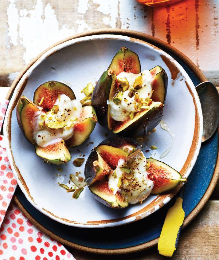 Photo de Figues cuites à la ricotta et aux pistaches prise par WW