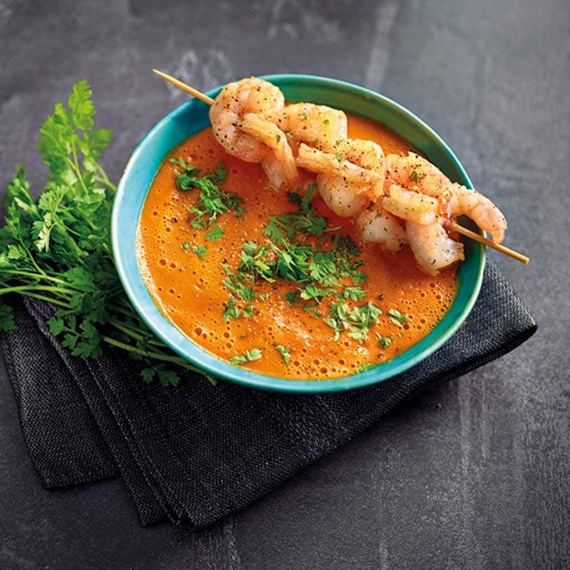 Foto van Wortel-currysoep met garnalen door WW