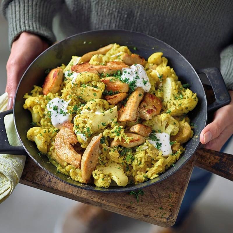 Foto van Currypannetje met rijst en kipfilet door WW