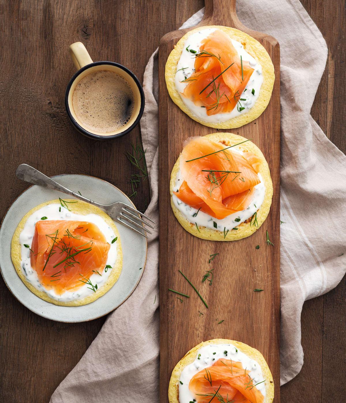 Photo de Blinis minute au saumon fumé prise par WW
