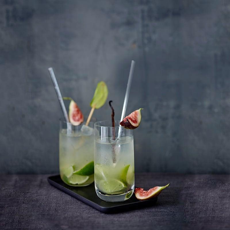 Foto van Gin Fizz met vijgen en vanille door WW