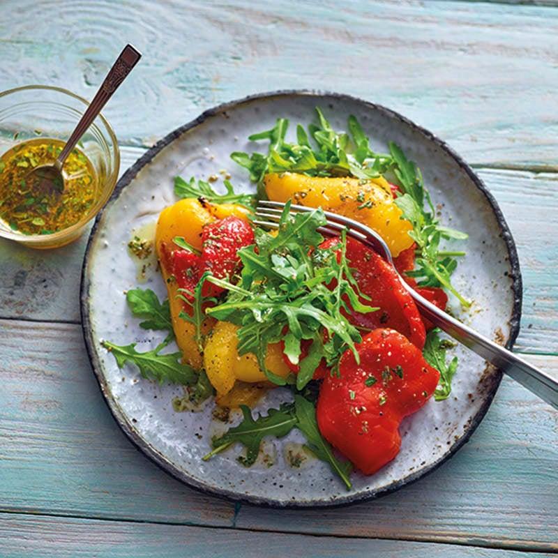 Foto van Salade van gegrilde paprika met honingdressing door WW