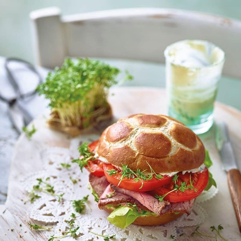 Photo de Petit pain au rosbif avec sa crème de cresson prise par WW