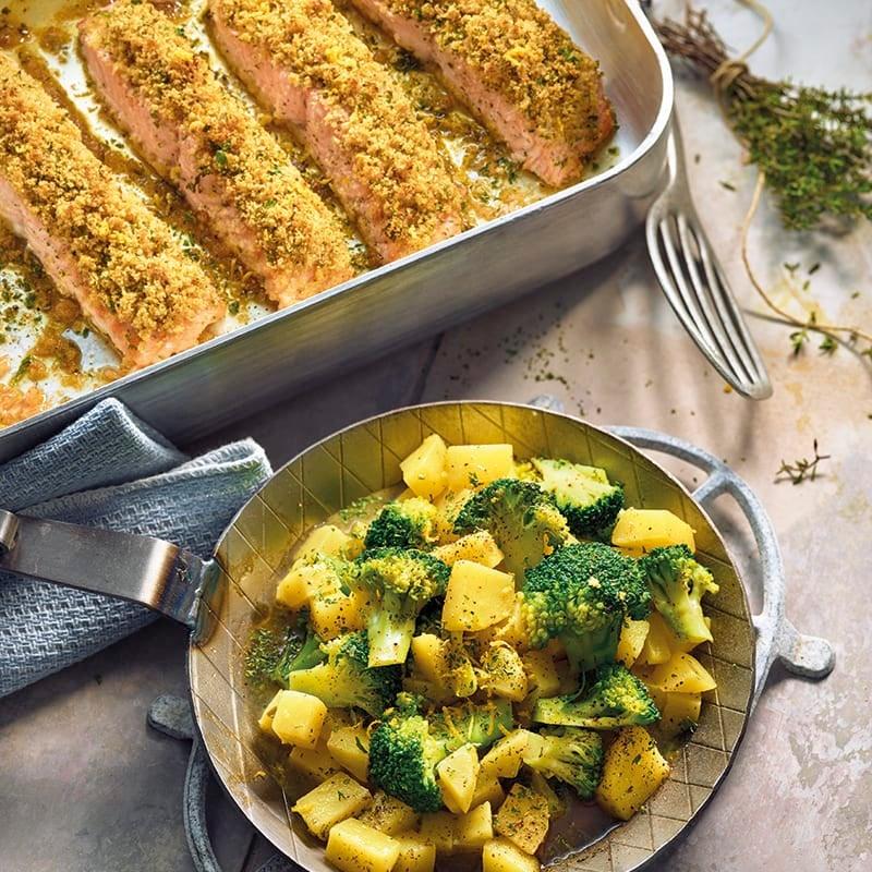 Foto van Zalm à la bordelaise met broccoli-aardappelpannetje door WW