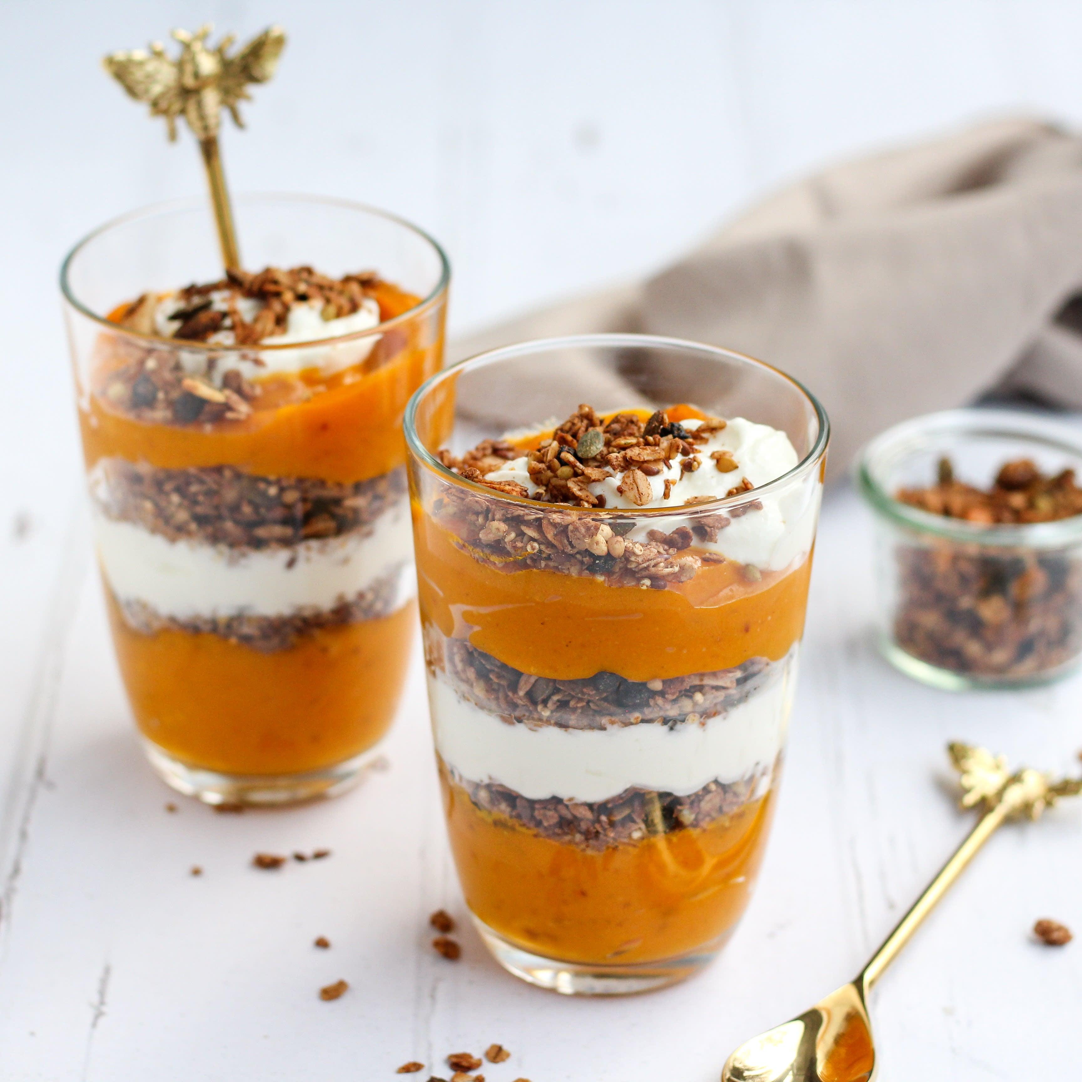 Foto van Pompoen yoghurt parfait - WW Loves - Oot Granola door WW