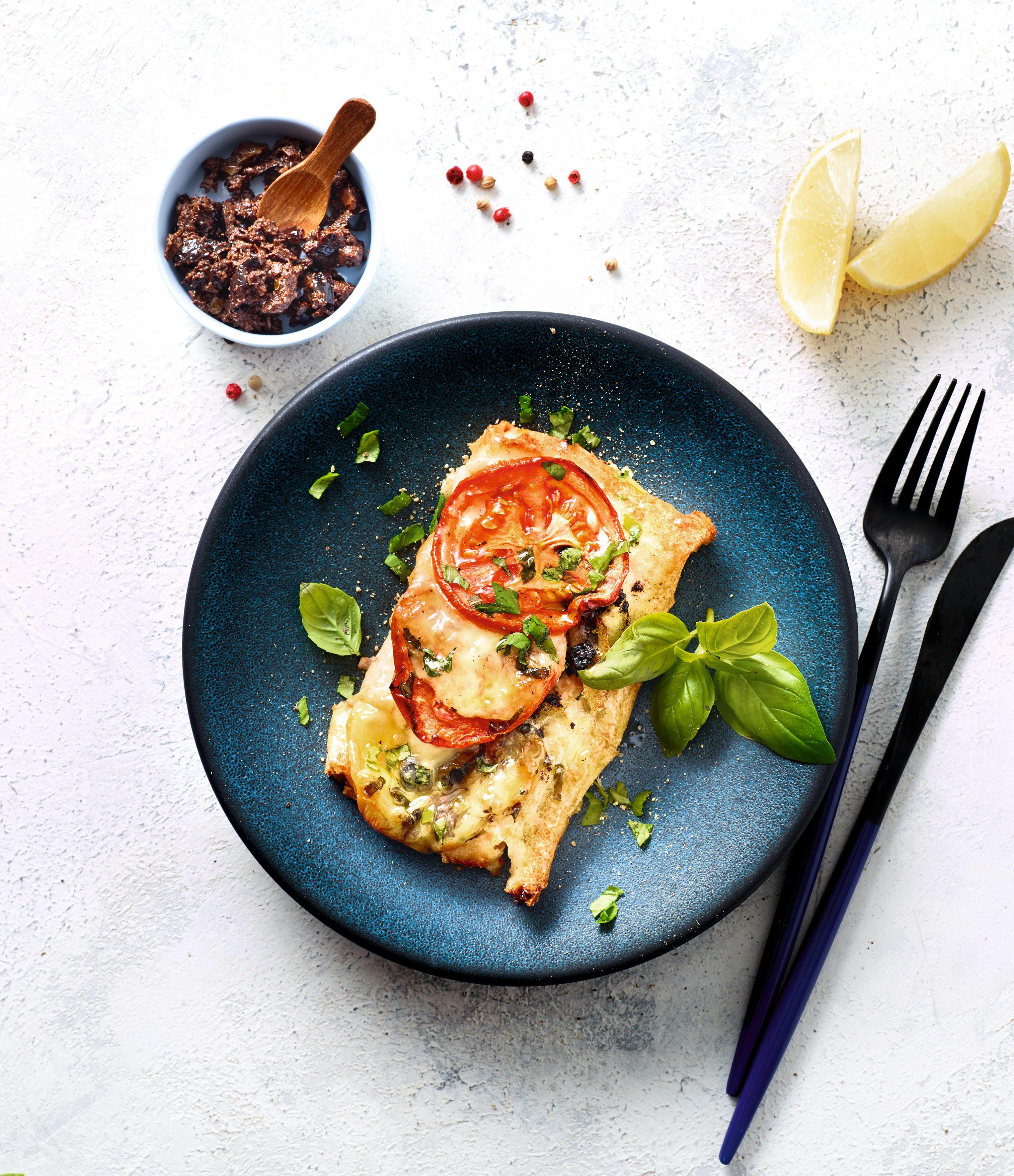 Photo de Saumon feuilleté, tapenade-mozza-basilic prise par WW