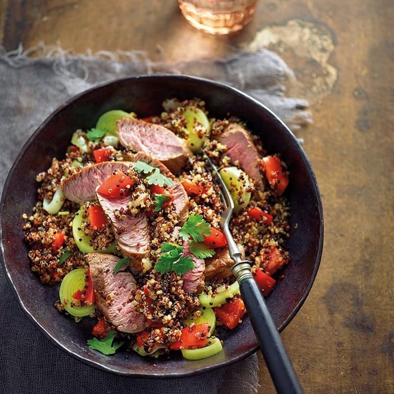 Foto van Gebakken quinoa met lamsfilet door WW
