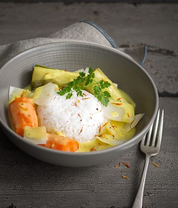 Photo de Pot-au-feu de légumes sauce safranée prise par WW