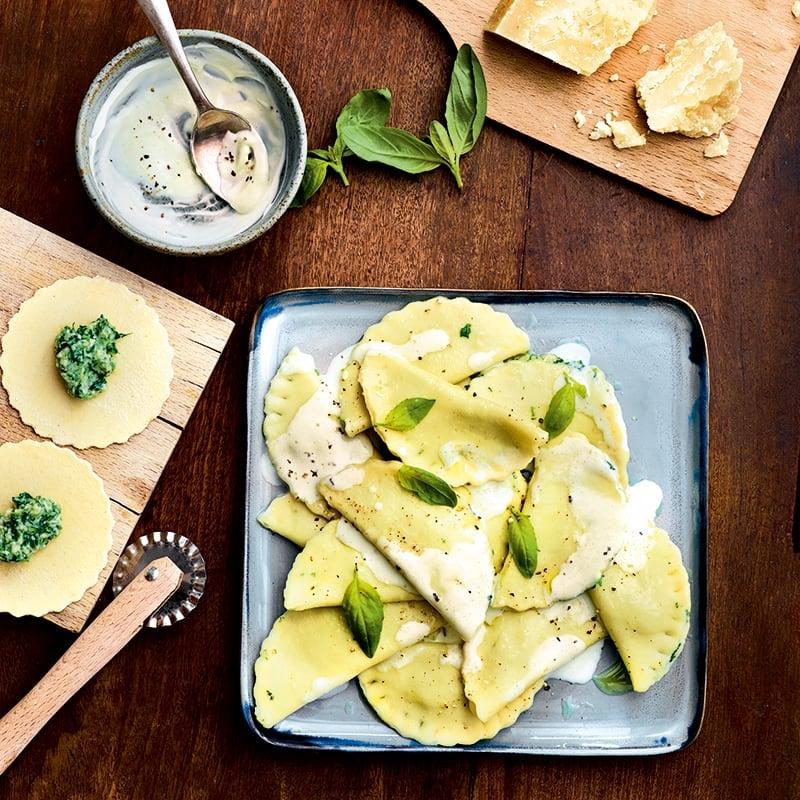 Foto van Ravioli met ricotta en spinazie door WW