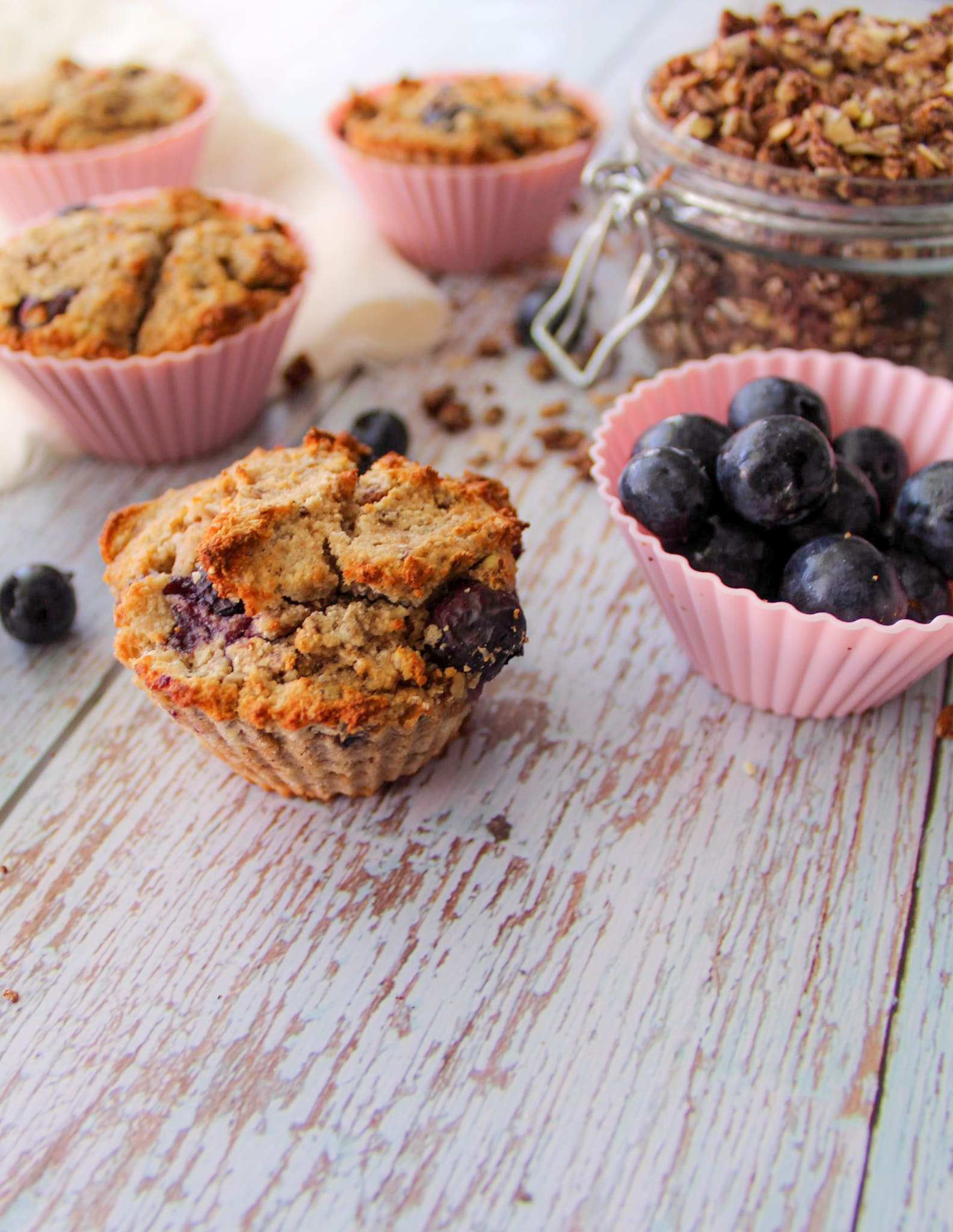Foto van Blauwe bessen muffins - WW Loves - Oot Granola door WW