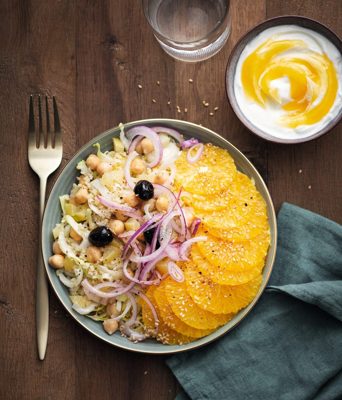 Photo de Salade d'agrumes aux pois chiches prise par WW