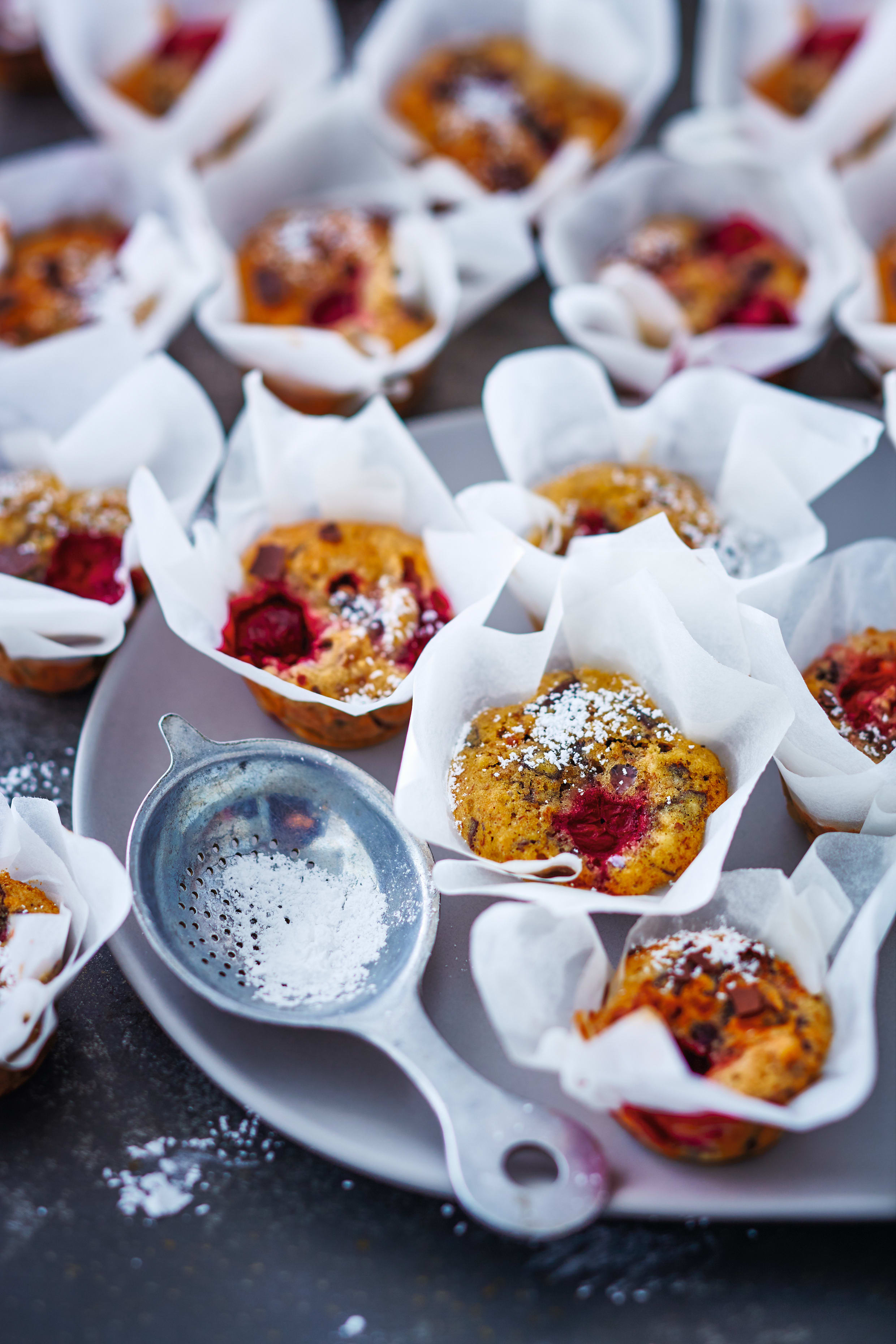 Photo de Muffins au chocolat et aux cerises prise par WW