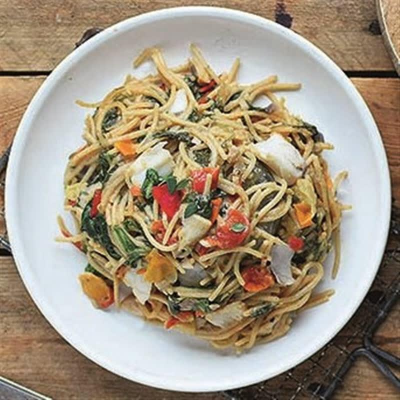 Photo de Spaghettis aux épinards et colin prise par WW