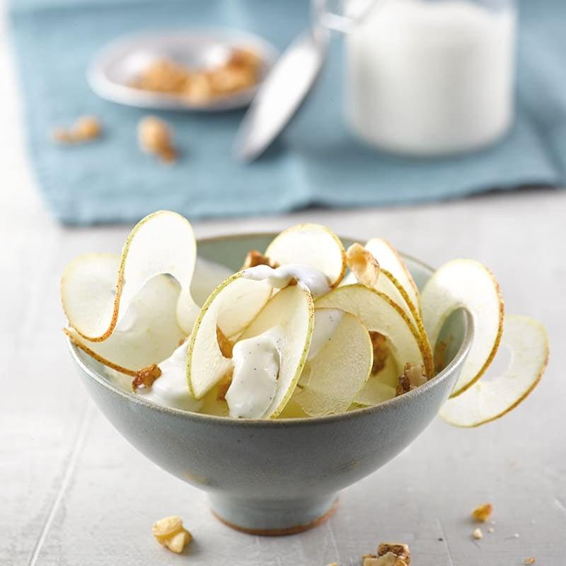 Foto van Peerlinten op vanilleyoghurt met walnoten door WW