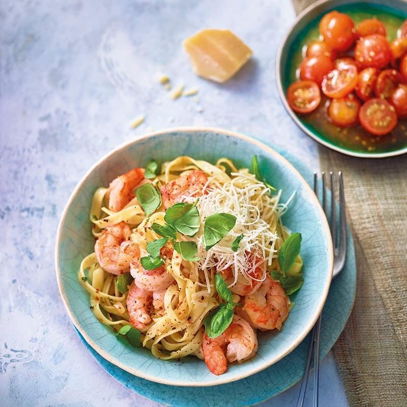 Foto van Pasta aglio e olio met garnalen door WW