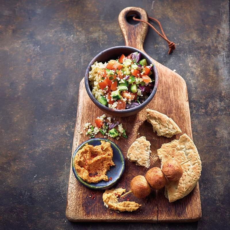 Photo de Falafel et houmous pimenté prise par WW