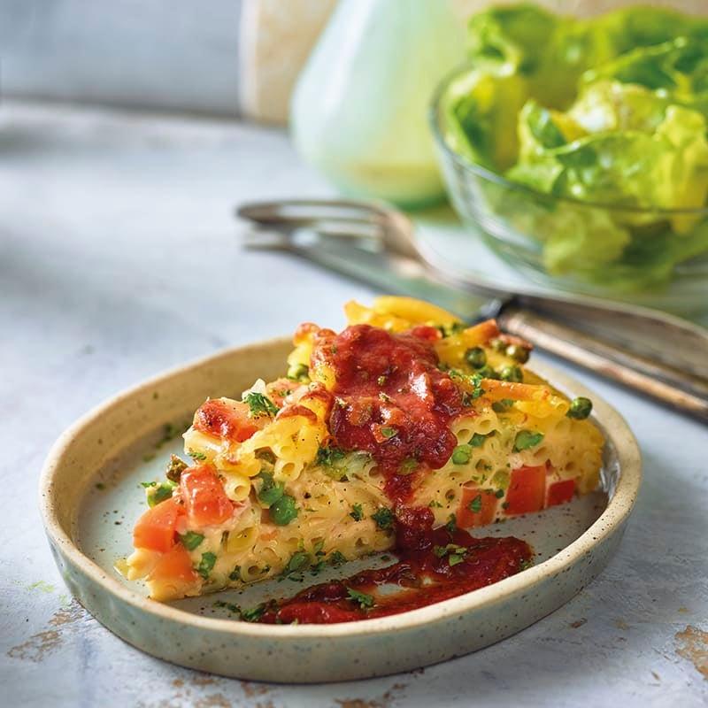 Foto van Macaronitaart met tomatensaus door WW