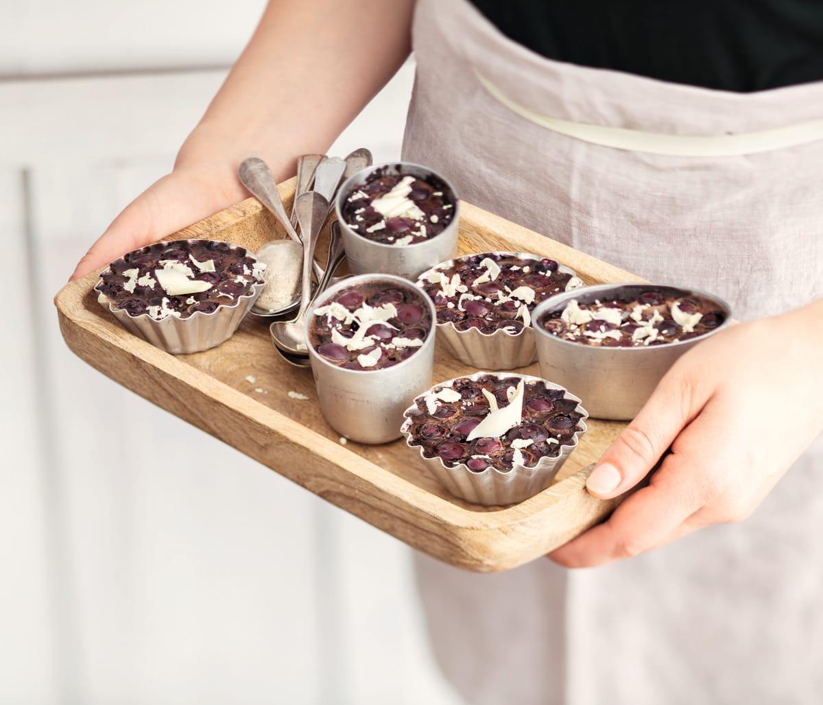Photo de Petits flans chocolat myrtilles prise par WW
