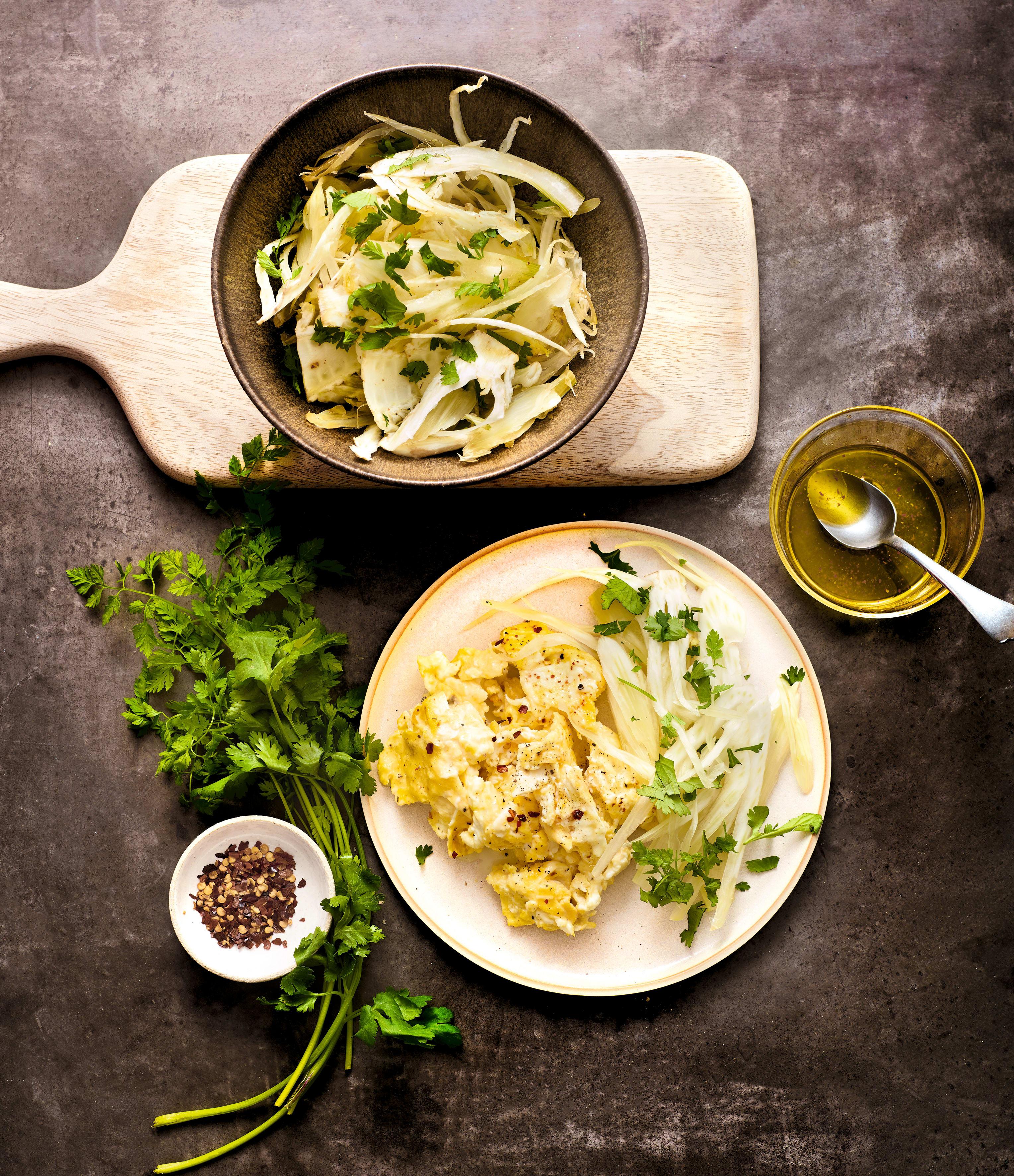 Photo de Brouillade à la cancoillotte, salade de fenouil prise par WW