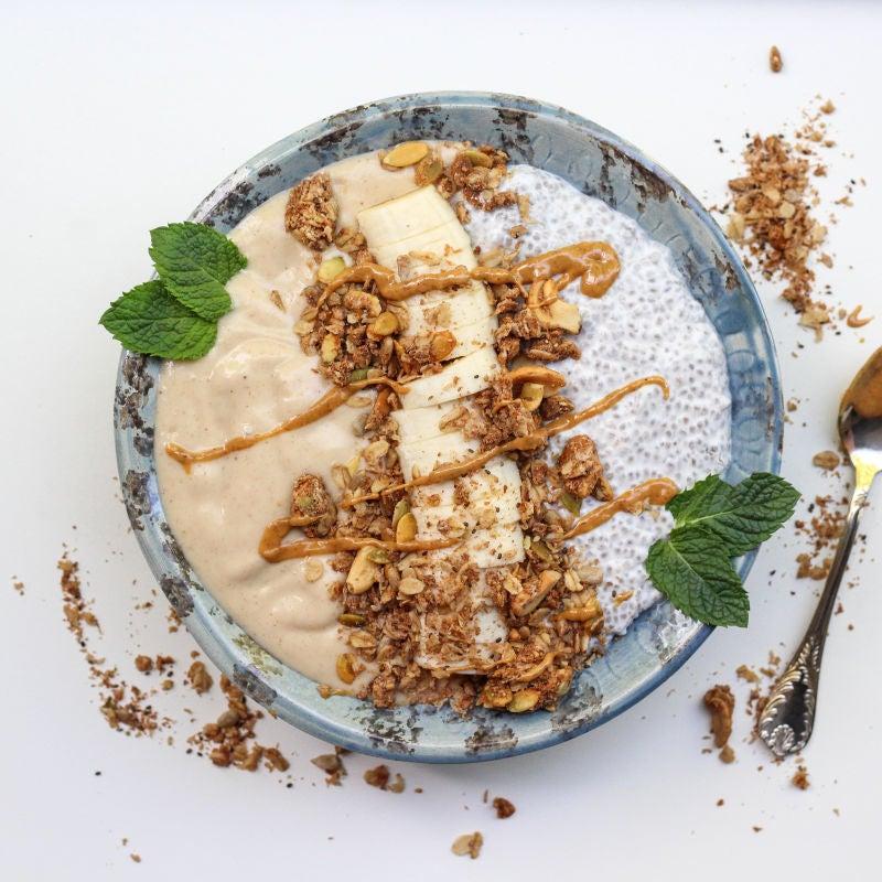 Foto van Chia pudding & banaan/ bloemkool smoothie  - WW Loves - Oot Granola door WW