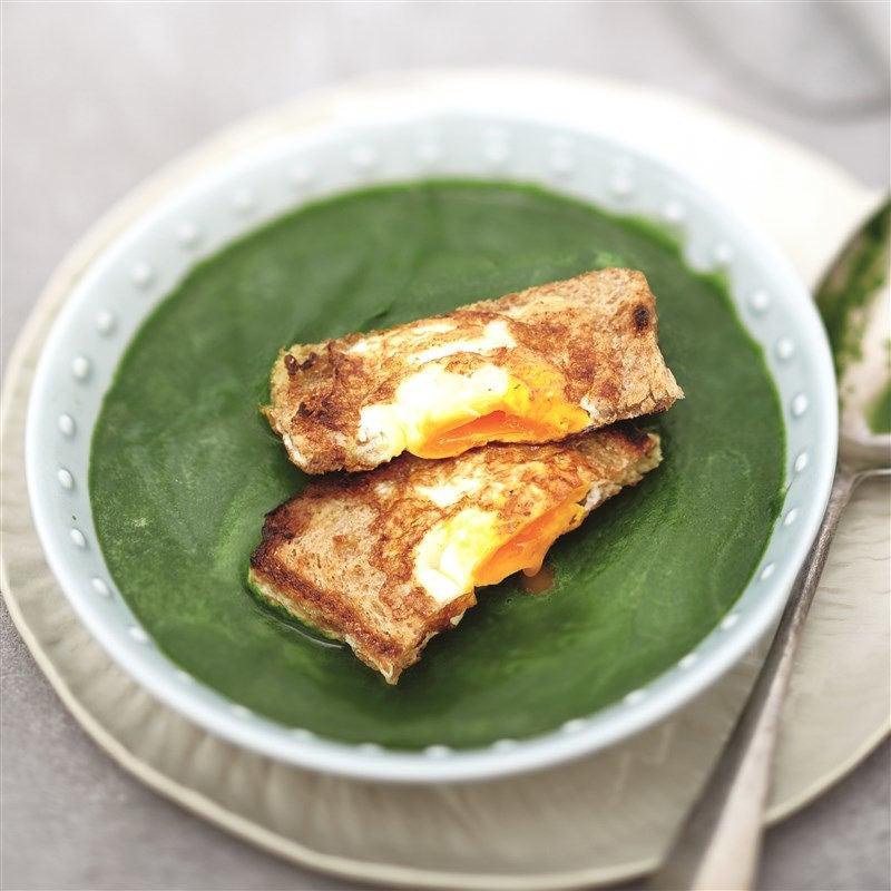 Photo de Potage aux épinards avec oeuf sur toast prise par WW