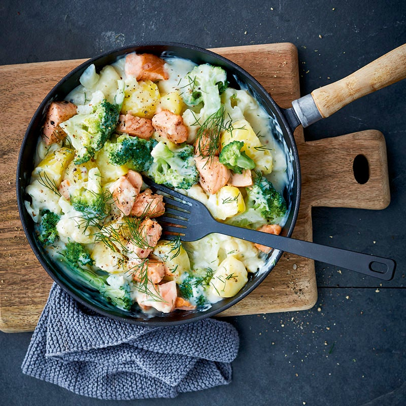 Photo de Cassolette de pommes de terre au saumon prise par WW