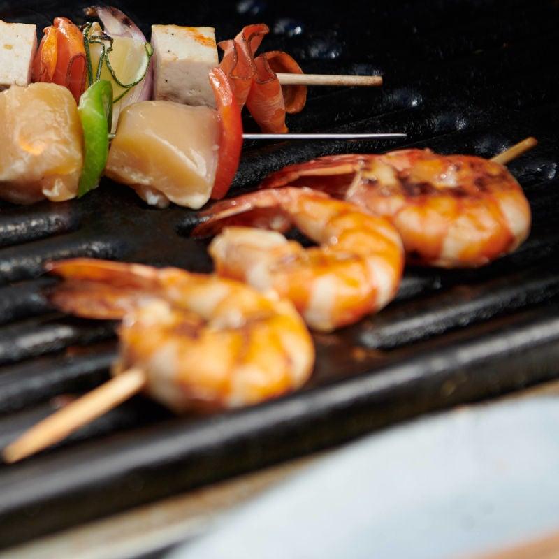 Photo de Brochettes de crevettes au barbecue prise par WW